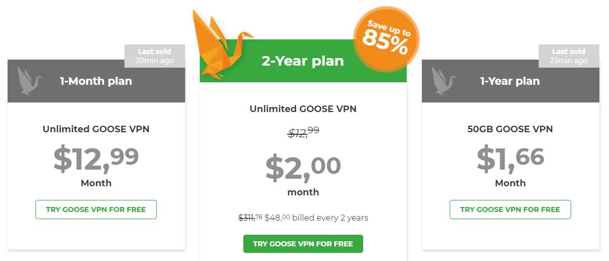 GOOSE VPN Discount Code: 85% OFF Coupon Code 2019 - YooSecurity