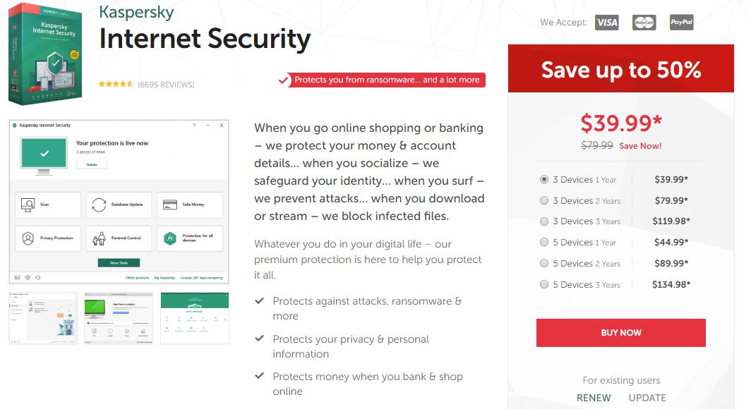 kaspersky internet security latest version number