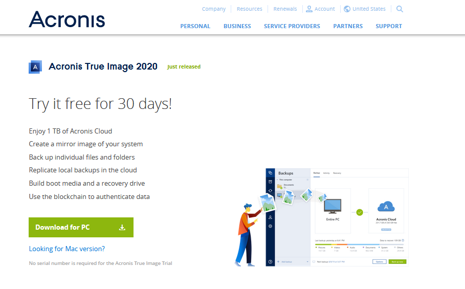How to Get Acronis True Image Free 30-Day Trial